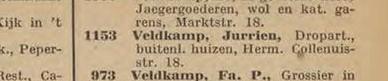 Veldkamp tel gids 1913 vermelding